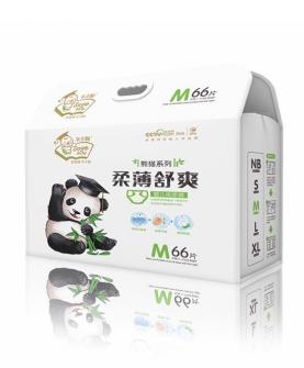 熊猫柔薄舒爽尿裤M66片