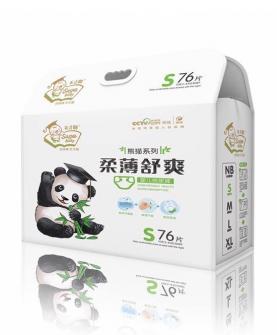 熊猫柔薄舒爽尿裤S76片