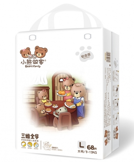 三维全导婴儿纸尿裤L68片