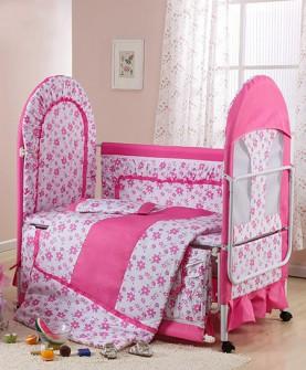 环保无漆婴儿床(粉色)