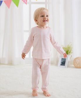春季儿童睡衣(自然线条)粉色