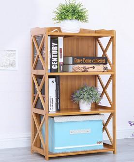 实木落地儿童书柜3层