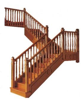 木质扶手楼梯