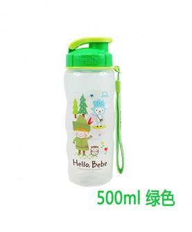 塑料儿童杯运动水杯500m绿色