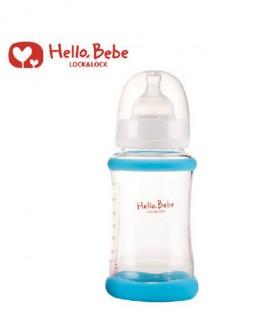 蓝色宽口径玻璃奶瓶