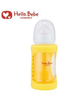 黄色宽口径玻璃奶瓶