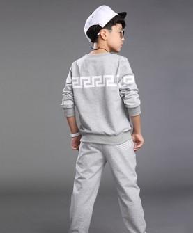 童装休闲套装灰色