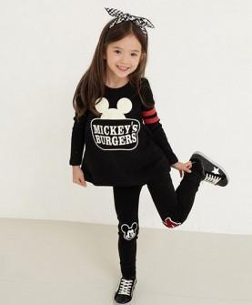 童装套装女装黑色