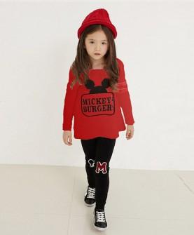 童装套装女装红色