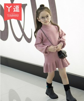 女童连衣裙秋冬装