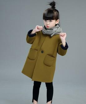 新款小女孩秋冬加厚风衣