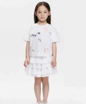 女童时尚涂鸦套装
