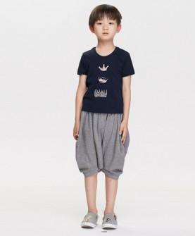 男童时尚简约套装