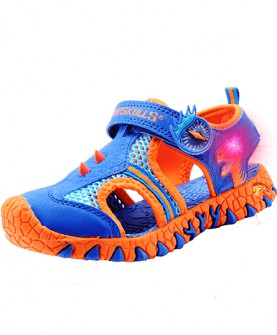 新款潮宝宝儿童闪灯沙滩鞋