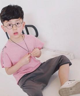 儿童纯色可爱套装