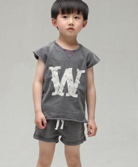 儿童短袖运动服套装