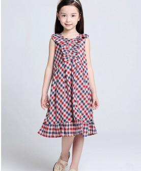 儿童格子连衣裙