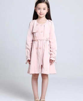 女童简约风衣
