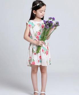 儿童碎花可爱连衣裙