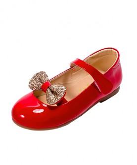 百搭蝴蝶结皮鞋