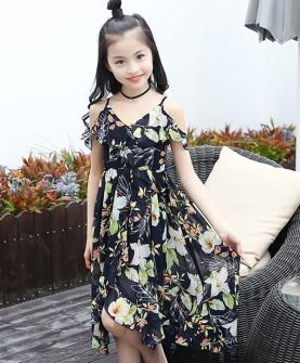 女童波西米亚风中长裙