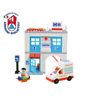 医院模型积木