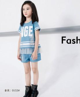 2017新款天蓝T恤套装