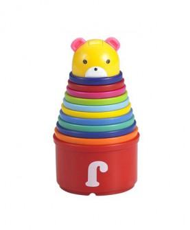 婴儿玩具 早教启蒙叠叠乐积木儿童套圈小熊益智叠叠杯