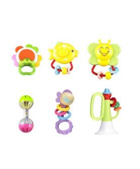 婴儿玩具 早教放心咬手摇铃新生儿牙胶礼盒摇铃系列