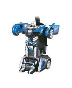 儿童玩具 手动回力变形车模机器人汽车模型