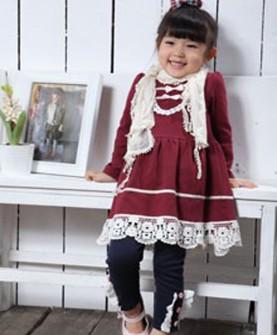 女童长袖公主衫