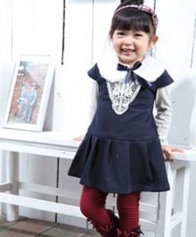 女童气质长袖短裙