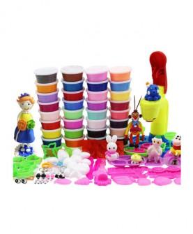 24色超轻粘土套装3D橡皮泥无毒太空泥儿童沙软陶水晶雪花彩泥玩具