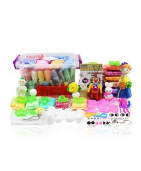 24色超轻粘土彩泥无毒橡皮泥太空雪花软陶36沙套装儿童玩具