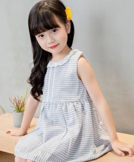 2017新款韩版条纹海军风裙子
