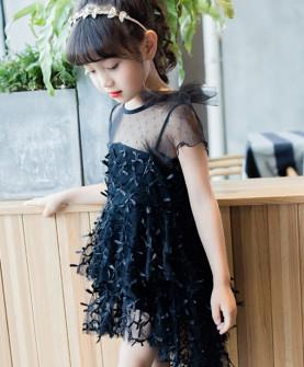 2017韩版时尚黑天鹅裙子