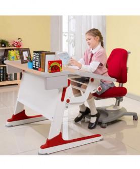 台湾原装小孩写字桌学生书桌组装课桌椅可升降学习桌椅