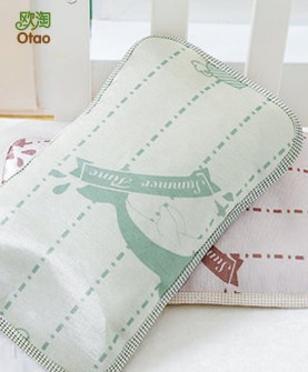 婴儿枕头亚麻草冰凉丝席荞麦