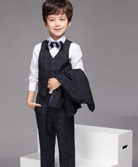 儿童礼服男英伦小西装套装