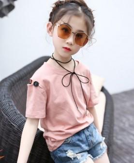 2017新款夏季女童韩版时尚夏装短袖