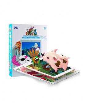 小刚几同款熊猫小让识字智能早教卡片撕不烂儿童3D有声涂涂乐玩具