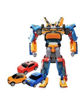 tobot托宝兄弟玩具儿童汽车迷你变形机器人合体组合金刚xy