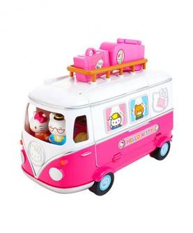 hello kitty凯蒂猫玩具粉红露营车过家家套装女孩生日礼物