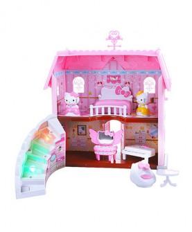 hellokitty凯蒂猫声光屋子仿真过家家房间家具套装女孩玩具