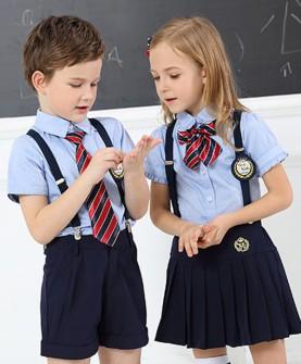 幼儿园园服小学生夏季校服套装