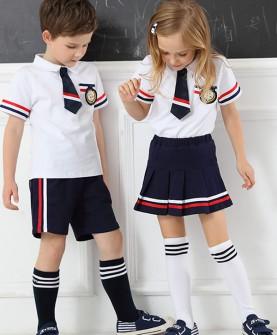 幼儿园园服夏装女童校服套装