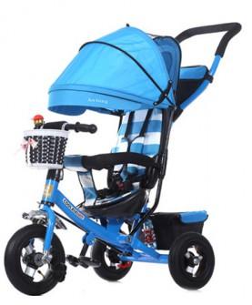 儿童三轮车折叠幼儿童车宝宝脚踏车1-3-5岁小孩自行车婴儿手推车
