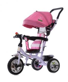 儿童三轮车脚踏车1-3-5岁充气轮婴儿手推车宝宝童车自行车