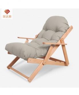 实木可折叠躺椅