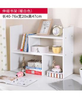 办公收纳置物架桌面伸缩儿童简约小书柜创意学生电脑桌上简易书架